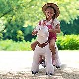 PonyCycle Model U-2021 Ride on White Horse Unicorn Toy Plush...