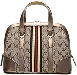 Vintage Printing Top Handle Bag For Women European Style Shoulder Bag Canvas Shell Crossbody Bag