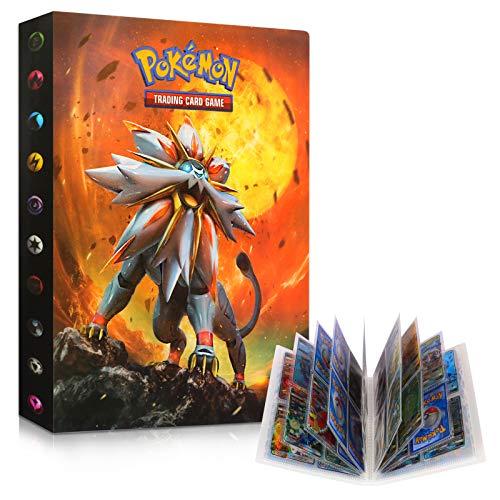 Sinwind Pokemon Album Classeur, Classeur pour Pokemon, Albums pour Cartes à Collectionner, GX EX boîte 30 Pages Peuvent Contenir 240 Cartes PokéMon Carte (Sonne und Stimmung)