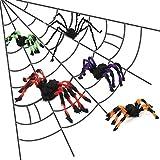 MYYXGS - Barra de decoración para fiestas de terror, diseño de araña de Halloween