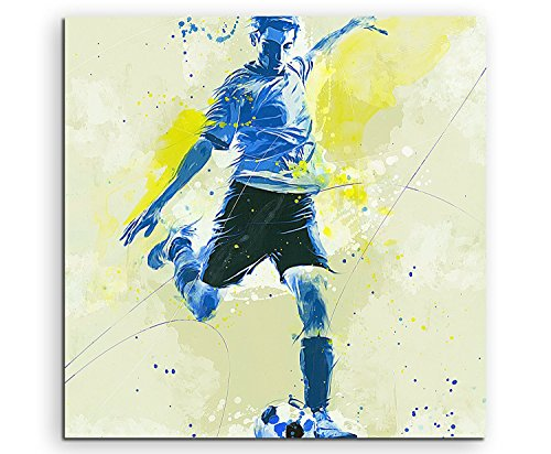 Paul Sinus Art Fussball 60x60cm SPORTBILDER Splash Art Wandbild Aquarell Art