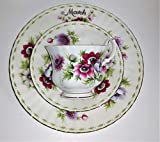 Royal Albert - Set di 3 tazze da collezione in porcellana Bone China