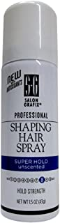 Salon Grafix Professional Shaping Hair Spray Super Hold Unscented 1.50 oz (Pack of 12)
