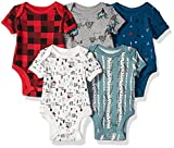 Rosie Pope Boys Baby 5 Pack Bodysuits, Mountain Theme, 6-9 Months