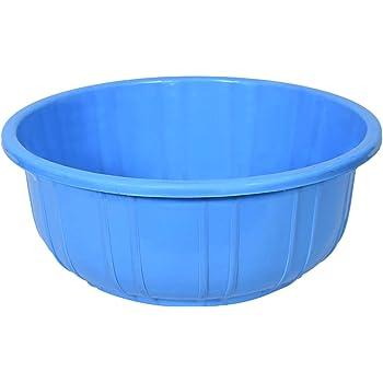 Kuber Industries Unbreakable Plastic Multipurpose Bath Tub/Washing Tub 40 LTR (Blue)-KUBMART3192