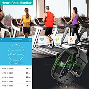 Willful Fitness Tracker, Fitness Watch Pedometer Watch Waterproof Activity Tracker with Heart Rate Monitor,Step Counter,Calories,Sleep Monitor,Alarms,Music Control,Phone Notice for Men Women Kids