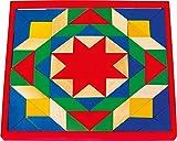 small foot 1038 Mosaik mit 80 bunten Steinen und einem Basisbrett aus Holz
