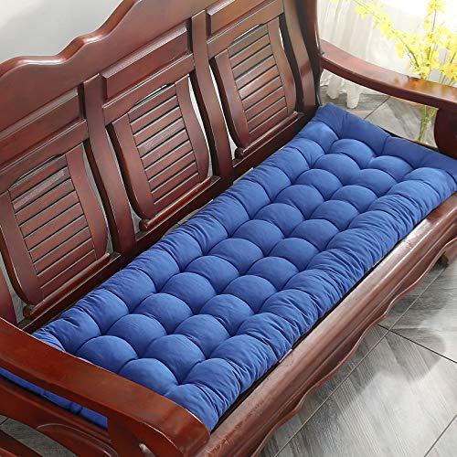 LOVE-CUSHION Cojines para Bancos Cómodo Acolchado Madera Maciza Sofá Cojines para Exterior Banco de jardín/Columpio K-48 * 150 * 8cm