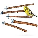 5 herrliche Natur Sitzstangen für Vögel wie Wellensittich, Nymphensittich, Kanarienvogel, Agaporniden | Naturholzstangen für den Vogel als wichtiges Vogelzubehör im Vogelkäfig | Zubehör