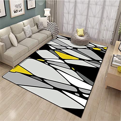 SONGHJ Alfombra De Poliéster Geométrico Abstracto Impreso Sofá Rectangular Manta De Mesa De Café Alfombra De La Habitación del Hogar D 140X200cm