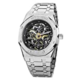 FEICE Sports Automatic Watch Men's Skeleton Mechanical Watch 42mm Waterproof Openwork Sapphire Crystal Wrist Watches for Men -FM019N
