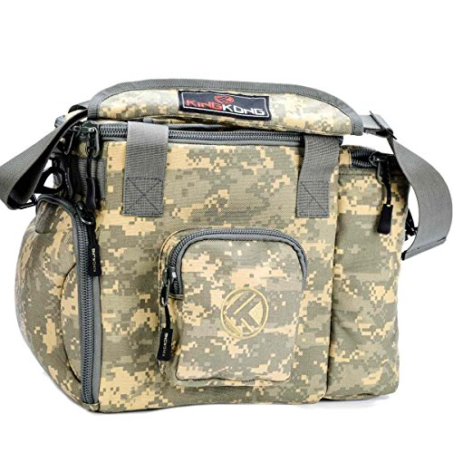 """King Kong Fuel Meal Prep Bag - Insulated Thermal Polyester Lunch Bag, Military Spec Nylon Cooler Bag for Meal Prep - 10"""" x 14.5"""" x 9"""" - Digital Camo"""