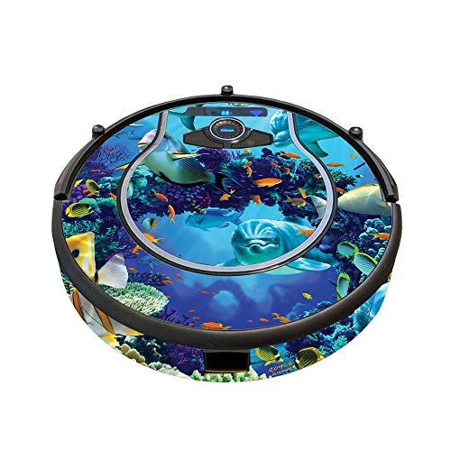 MightySkins Skin Compatible with Shark Ion Robot 750 Vacuum Minimal Coverage - Ocean Friends | Protective, Durable, and Unique Vinyl wrap Cover | Easy to Apply, Remove | Made in The USA