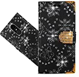 LG K8 2017 Handy Tasche, FoneExpert® Bling Luxus Diamant Wallet Hülle Flip Cover Hüllen Etui Hülle Ledertasche Lederhülle Schutzhülle Für LG K8 2017