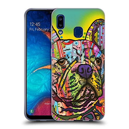 Head Case Designs Officially Licensed Dean Russo French Bulldog Dogs Soft Gel Case Compatible with Samsung Galaxy A20 / A30 2019