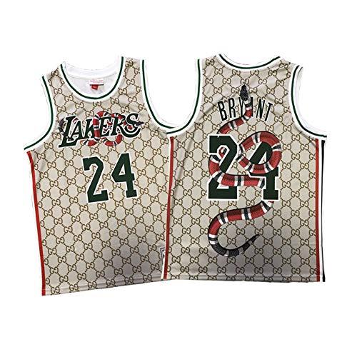 QPY Kobe Bryant L.A. Lakers #24 - Camisetas de baloncesto para Black Mamba Spirit, M&n Classic Basketball Jerseys Impreso Versión Purple Jersey, (S-XXL)