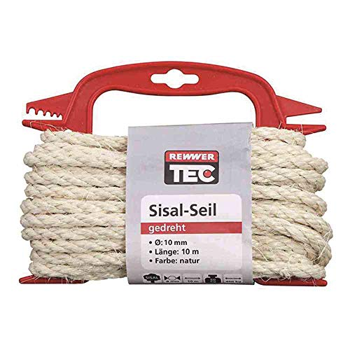 Sisal-Seil 10mx10mm natur a.Haspel
