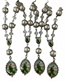 Bulk 12 Pc Crystal Saint Jude Car Auto Rosary with Gift Bag Perfect for First Communions , Baptism , Wedding Shower /Religious Gift /