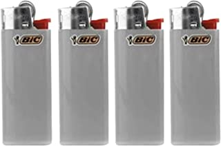 Bic Mini Charcoal Grey Lighters Lot of 4