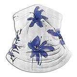 Linger In Pétalos de Flor de Ciruelo inspirados en Acuarela Antigua Oriental Obra de Arte Oriental Violeta Oscuro Cuello más cálido Polaina Pasamontañas