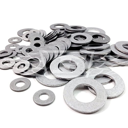 50 x Aluminium Washer KIT M3, M4, M5, M6, M8, M10 Lightweight Race Bike PROBOLT