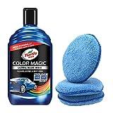 Turtle Wax Colour Magic Car Polish 500ml - Ultra Blue Wax + 3