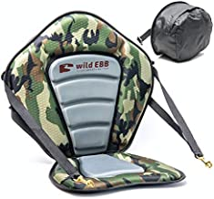 Kayak Seat with Back Support for Sit On Top Kayaks, Paddle Boards and More. Enjoy a More Relaxed Paddling Experience with a Comfortable High Back Support, Cushioned Seat Pad and Seat Back Storage Bag