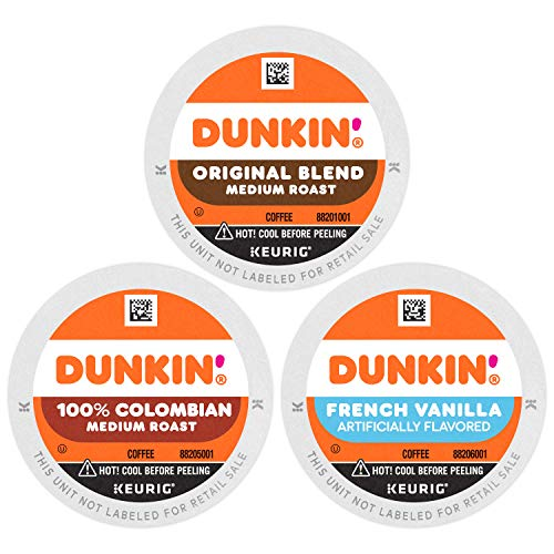 Dunkin' Best Sellers Coffee Variety Pack, K Cups for Keurig Coffee Makers, 60 Count