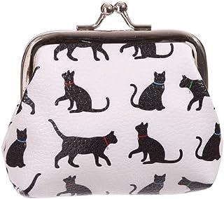 Portamonete borsellino design Sagoma di Gatto nero