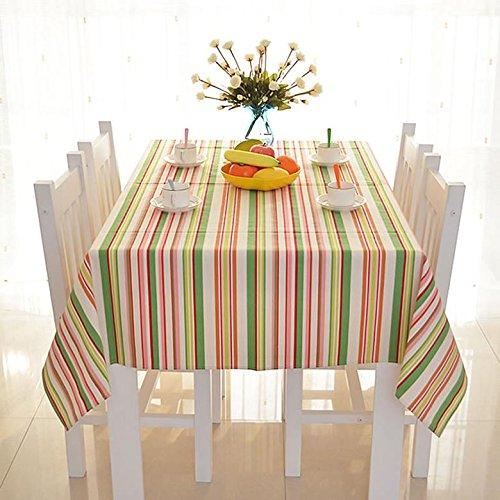 Nappe Coton Tissu à rayures Rectangulaire Accueil Pique-nique Anti-salissure Doux Table Premium , 140*200cm