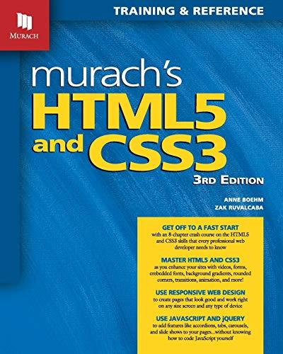 Murach's HTML5 and CSS3, 3rd Editio…