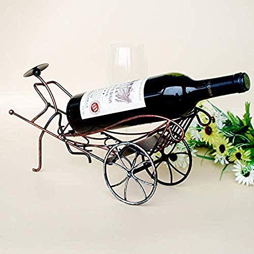BXU-BG Hierro estante del vino del metal rickshaws titulares de vino de China titular de la decoración viento vino