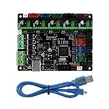 HENHEN Jun Store Piezas de Impresora 3D MS Genio -L V2.0 Placa Base Compatible 4988 8825 TMC 2100 Conductor Apto for rampas1.4 Abrir código Abierto Marlin (Color : Black)