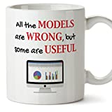 MUGFFINS Tazas Desayuno Originales graciosas – All The Models Are Wrong but Some Are Useful Regalar a Trabajadores/Oficina/Estudiantes 350 ml