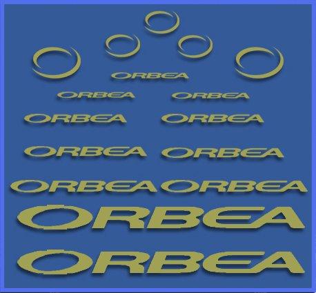 Ecoshirt U5-8ASR-6W3G Aufkleber Orbea Dr04 Vinyl Adesivi Decal Aufkleber 2/3/6 MTB Stickers Bike, Gold