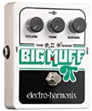 electro-harmonix Big Muff Pi with Tone Wicker - Pedal de distorsión para guitarra, color plateado