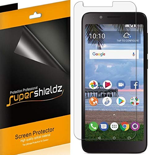 (6 Pack) Supershieldz for TCL LX (A502DL) Screen Protector, High Definition Clear Shield (PET)