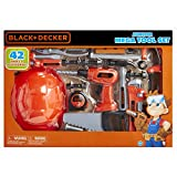 BLACK+DECKER Junior Kids Tool Set - Mega Tool Set with 42 Tools & Accessories! Role Play Tools for Toddlers Boys & Girls Ages 3 Years Old and Above, Includes Helmet! (58505)