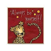 壁の写真 子供のベッドルームのために人格動物キャンバスウォールアート額入りキャンバス地の写真 絵画ポスター (Color : Monkey, Size : 80x80cm)