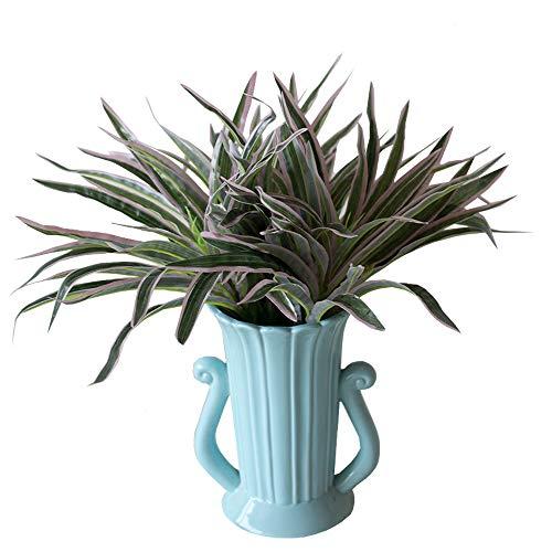 Fycooler Orquídea del Clorofito de Las Flores Artificiales,Plantas Artificiales Flores de Seda Sintética Planta Araña, Vegetación Falsa Hogar Jardín Oficina Decoración de la Boda-(rojo-5pcs 16