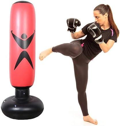 AMhuui Fitness Boxing Boxsack, Tumbler Kampfsäule Boxsack Fitness Sport Spielen Erwachsene Kinder De-Stress Boxing Ziel,rot B07QL1K2J9     | Vielfältiges neues Design