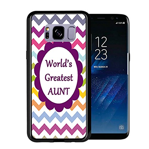 Chevron Rainbow Greatest Aunt for Samsung Galaxy S8 2017 Case Cover by Atomic Market