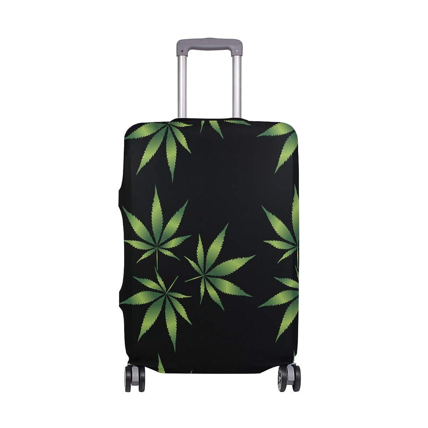 平行ミュートクラウド繊細な印刷では大麻リーフ柄スーツケースプロテクター弾性旅行荷物カバー防雨手荷物カバー