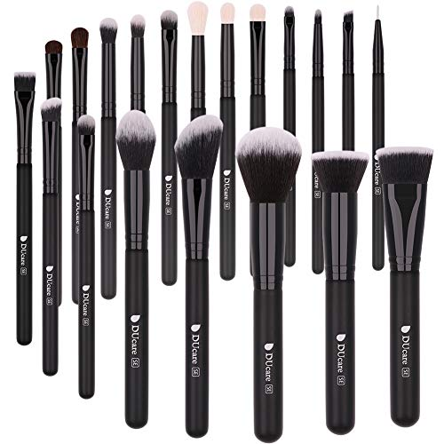 DUcare Brochas de Maquillaje 20 Piezas Premium Brochas Maquillaje Cerdas de Fibra Sintética Suaves y sin Crueldad kit Brochas Maquillaje