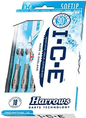 Fléchettes pointe plastique 90% Tunstène – Harrows Ice Polar – 18g