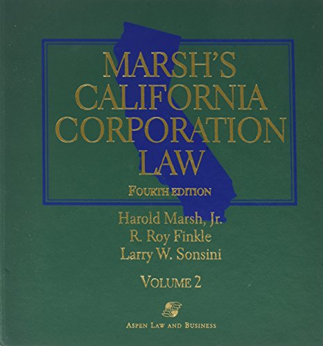 Marsh's California Corporation Law