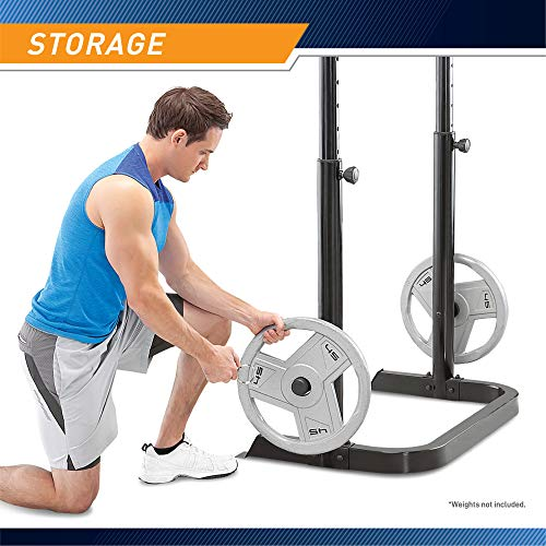 Product Image 6: Marcy Adjustable Olympic Weight Bench with Leg Developer and Squat Rack MD-879