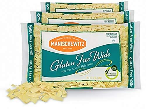 Manischewitz Gluten Free Wide Egg Noodles (3 Pack) Yolk Free, Kosher For Passover and All Year Round Use