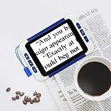 TOPQSC Lente d'Ingrandimento Digitale Portatile Display LCD a Colori da 3,5 Pollici Amplificatore Visivo Ausilio per la Lettura Elettronica Ausili per Ipovedenti per Anziani e Bambini