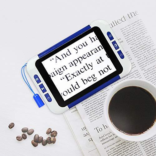 4YANG 3,5-Zoll-LCD-tragbare digitale Video-Lupe Elektronisches Lesehilfetool für Sehbehinderte HDMI-AV-Ausgang zum Fernseher, ideale Hilfe zum Lesen, Schreiben, Anzeigen von Karten, Bücher 2X-32X